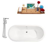 "Streamline 67"" Faucet and Cast Iron Tub Set 