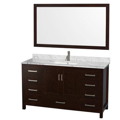 "Wyndham Collection Sheffield 60"" Single Bathroom Vanity Set with Mirror WDX1551"
