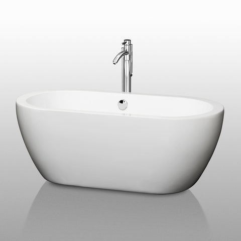 "Wyndham Collection Soho 59.75"" x 29.25"" Soaking Bathtub WCOBT100260PCTRIM"