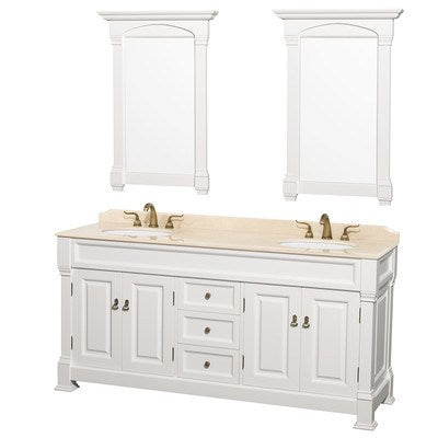 "Wyndham Collection Andover 72"" Double Vanity Set WCVTD72WHCW"