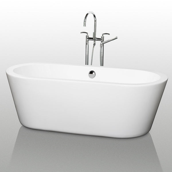 "Wyndham Collection Mermaid 71"" x 34"" Soaking Bathtub WCOBT100371"