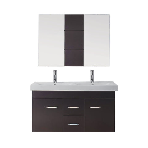"Virtu USA Opal 48"" Double Bathroom Vanity with countertop"