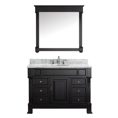 "Virtu USA Huntshire Manor 48"" Single Bathroom Vanity with Marble Top"
