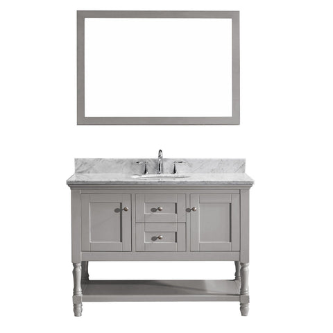 "Virtu USA Julianna 48"" Single Bathroom Vanity with Marble Top"