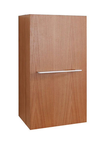 "Virtu USA Carvell 16"" Linen Cabinet in Chestnut"