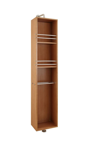 "Virtu USA Marcel 14"" Linen Cabinet in Chestnut"
