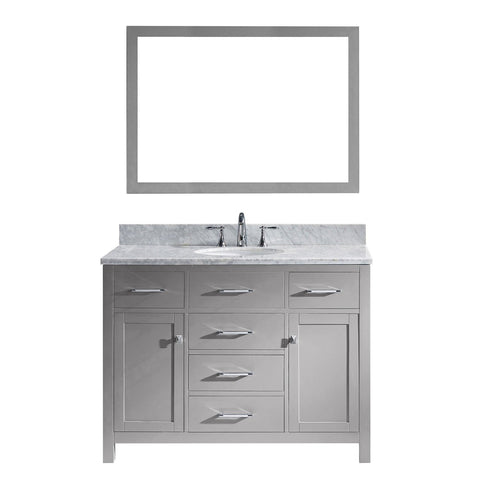 "Virtu USA Caroline 48"" Single Bathroom Vanity with Marble Top"