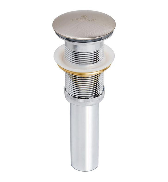 Fresca Pop-Up Drain Assembly Without Overflow - Brushed Nickel