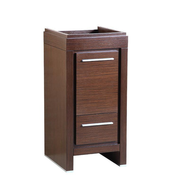 "Fresca Allier 16"" Wenge Brown Modern Bathroom Cabinet"