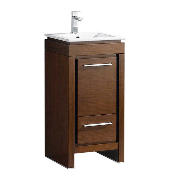 "Fresca Allier 16"" Wenge Brown Modern Bathroom Cabinet w/ Sink"