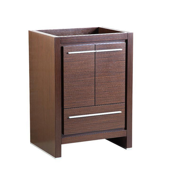 "Fresca Allier 24"" Wenge Brown Modern Bathroom Cabinet"