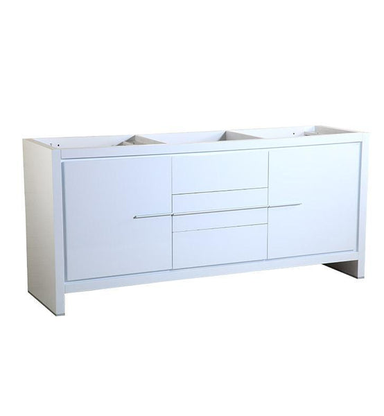 "Fresca Allier 72"" White Modern Double Sink Bathroom Cabinet"
