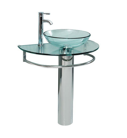 Fresca Attrazione Modern Glass Bathroom Pedistal