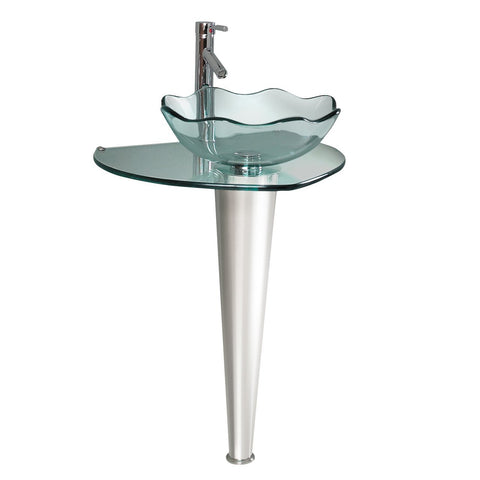 Fresca Netto Modern Glass Bathroom Pedistal