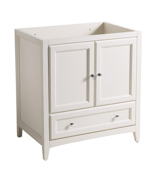 "Fresca Oxford 30"" Antique White Traditional Bathroom Cabinet"