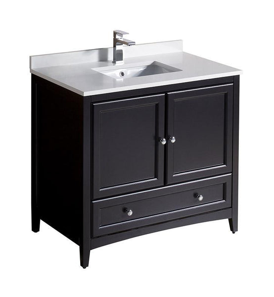 "Fresca Oxford 36"" Espresso Traditional Bathroom Cabinet"