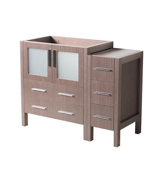 "Fresca Torino 42"" Gray Oak Modern Bathroom Cabinet"