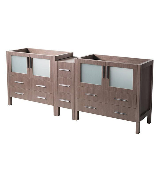 "Fresca Torino 83"" Gray Oak Modern Bathroom Cabinet"