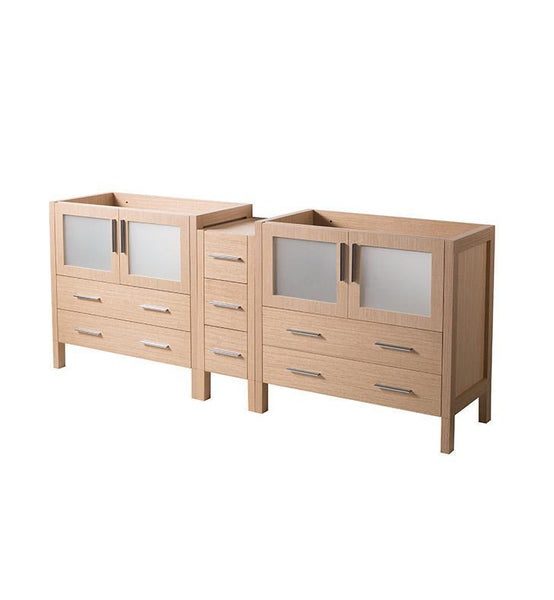 "Fresca Torino 83"" Light Oak Modern Bathroom Cabinet"