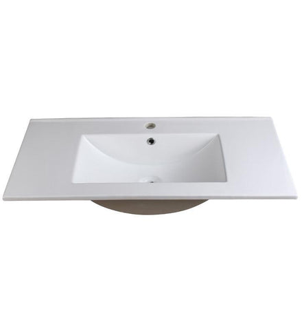 "Fresca Allier 36"" White Integrated Sink / Countertop"
