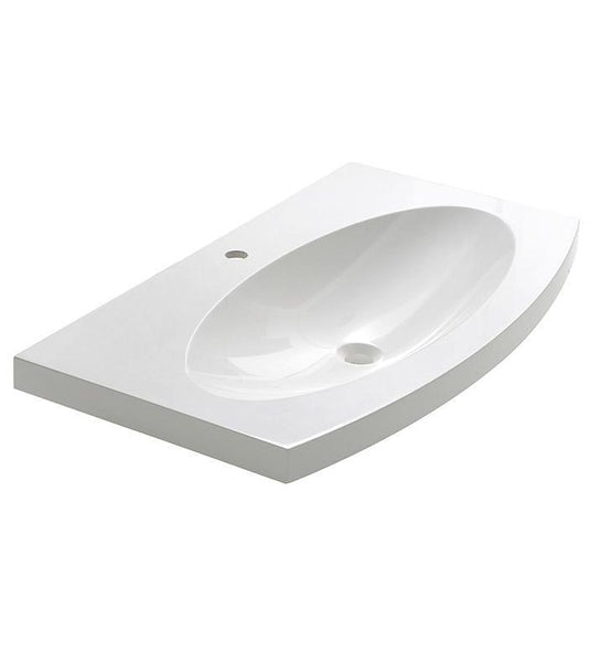 "Fresca Energia 36"" White Integrated Sink / Countertop"