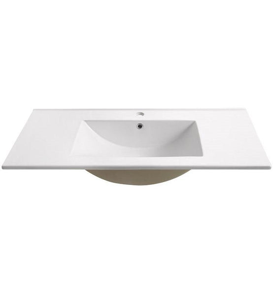 "Fresca Torino 36"" White Integrated Sink / Countertop"