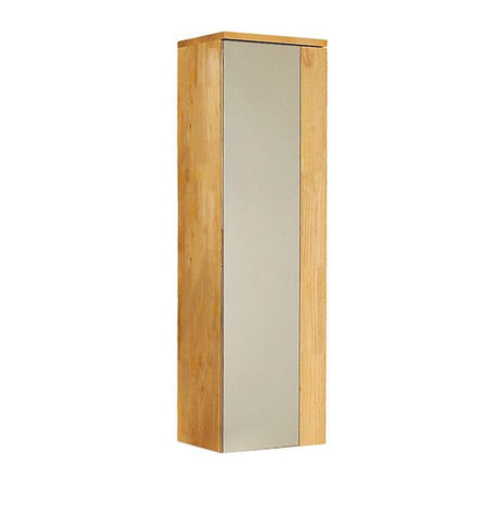 "Fresca Caro 12"" Natural Wood Mirrored Side Cabinet"
