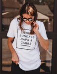 Jesus, Sundays, Naps and Carbs - TheBBtee Shirts, theBBtee, TheBBtee