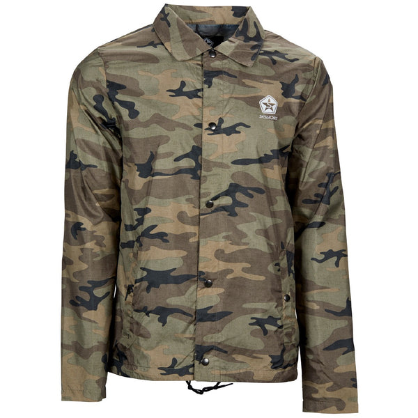 Sessions chaos jacket green camo front