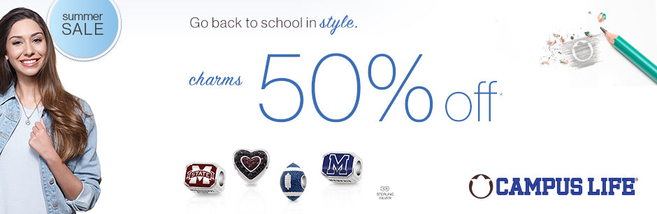 Campus Life Summer Sale School Charms