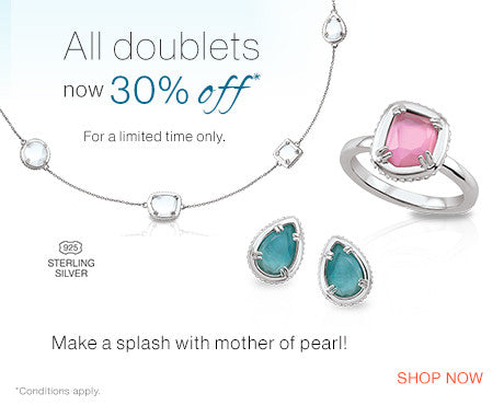 Mother of Pearl Doublet Jewellery Sale