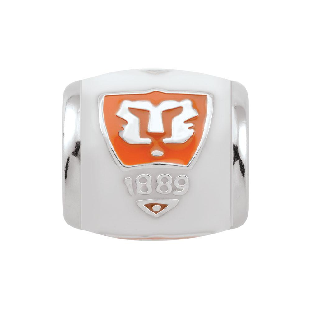 Clemson Tiger Shield Campus Life Charms Sterling Silver Enamel Collegiate collection  Clemson University
