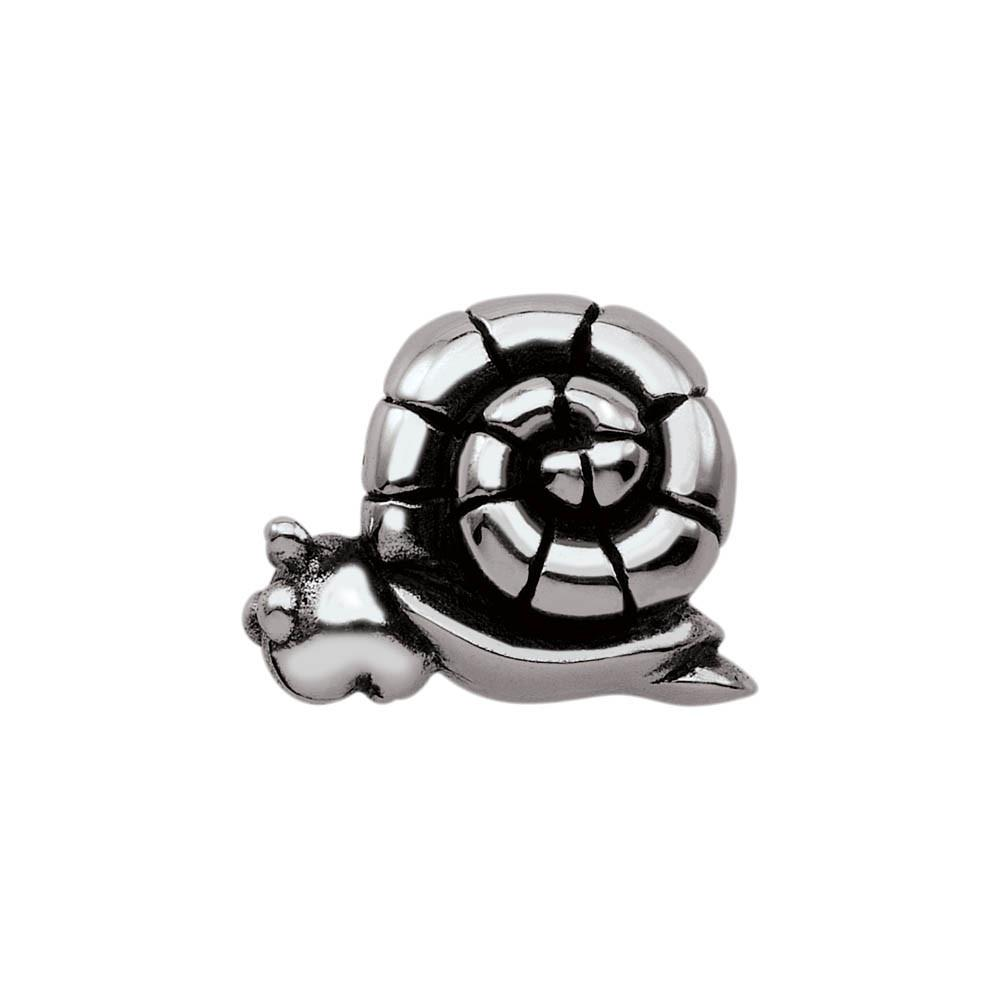 Steady Snail jewellery charm Sterling Silver