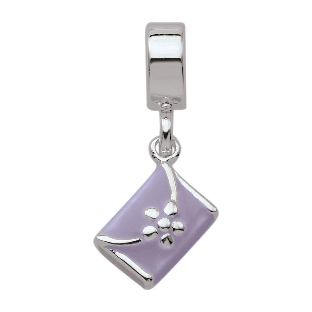 Cute Clutch jewellery charm Sterling Silver Purple