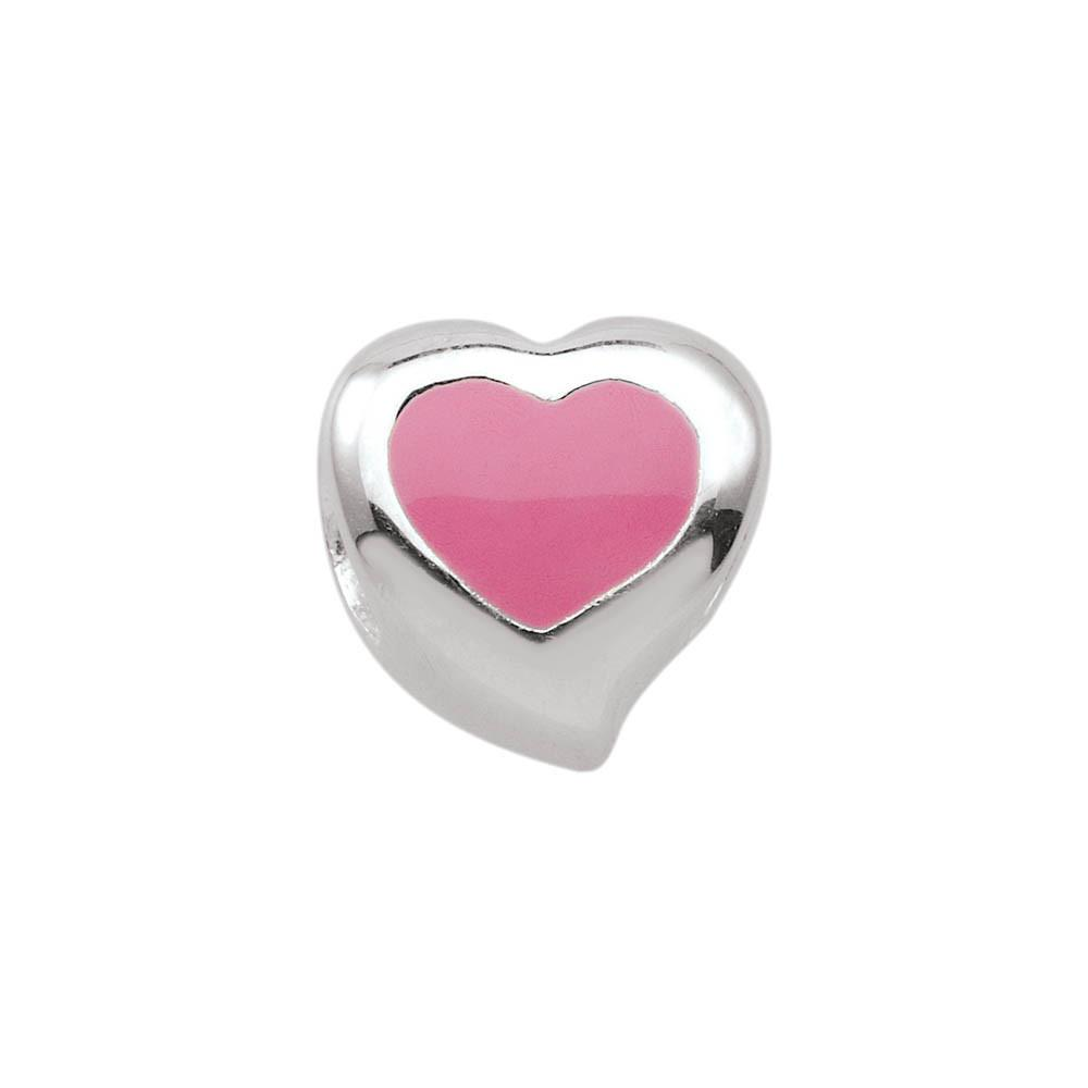 Sweetheart jewellery charm Sterling Silver Pink