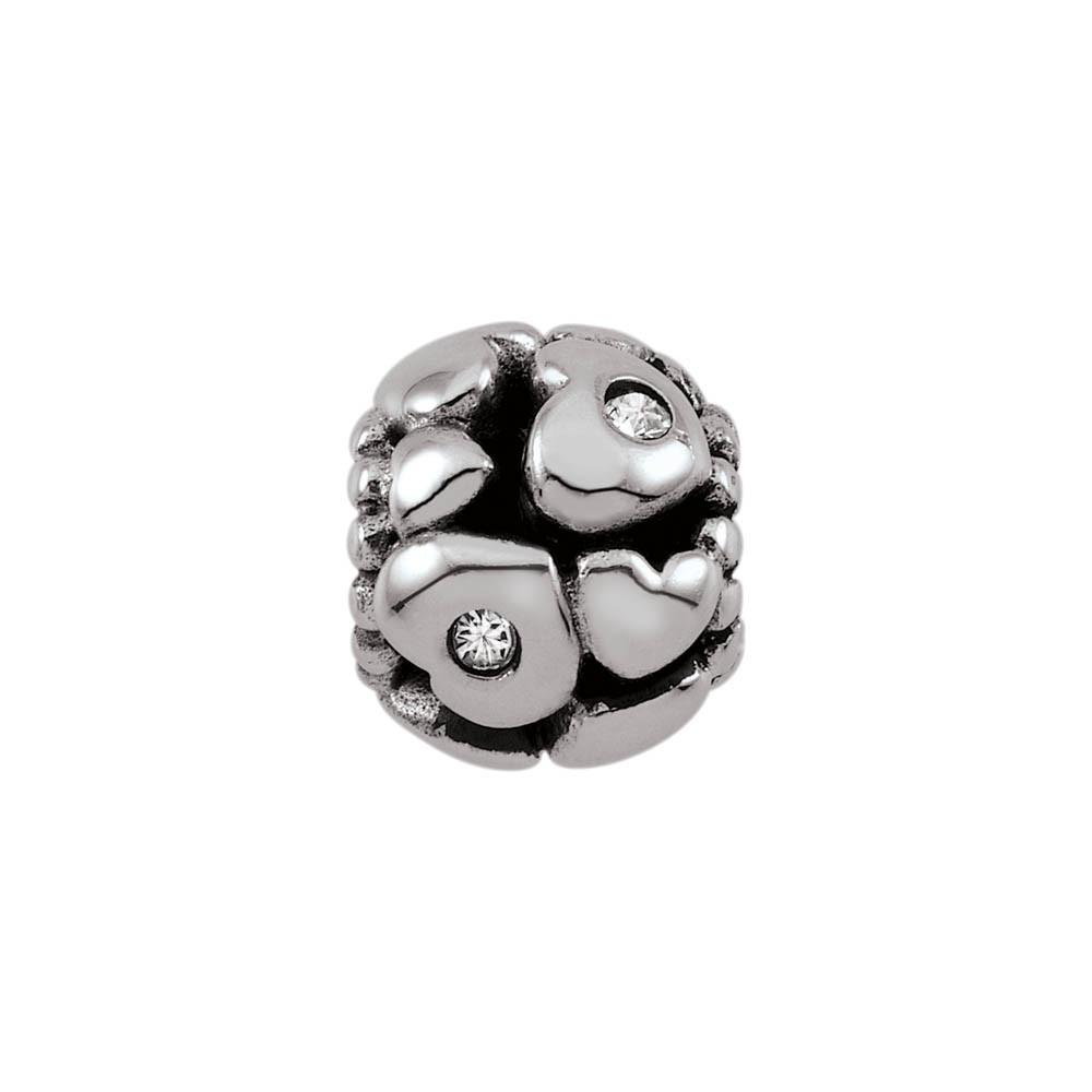 Hearts A Float jewellery charm Sterling Silver Silver