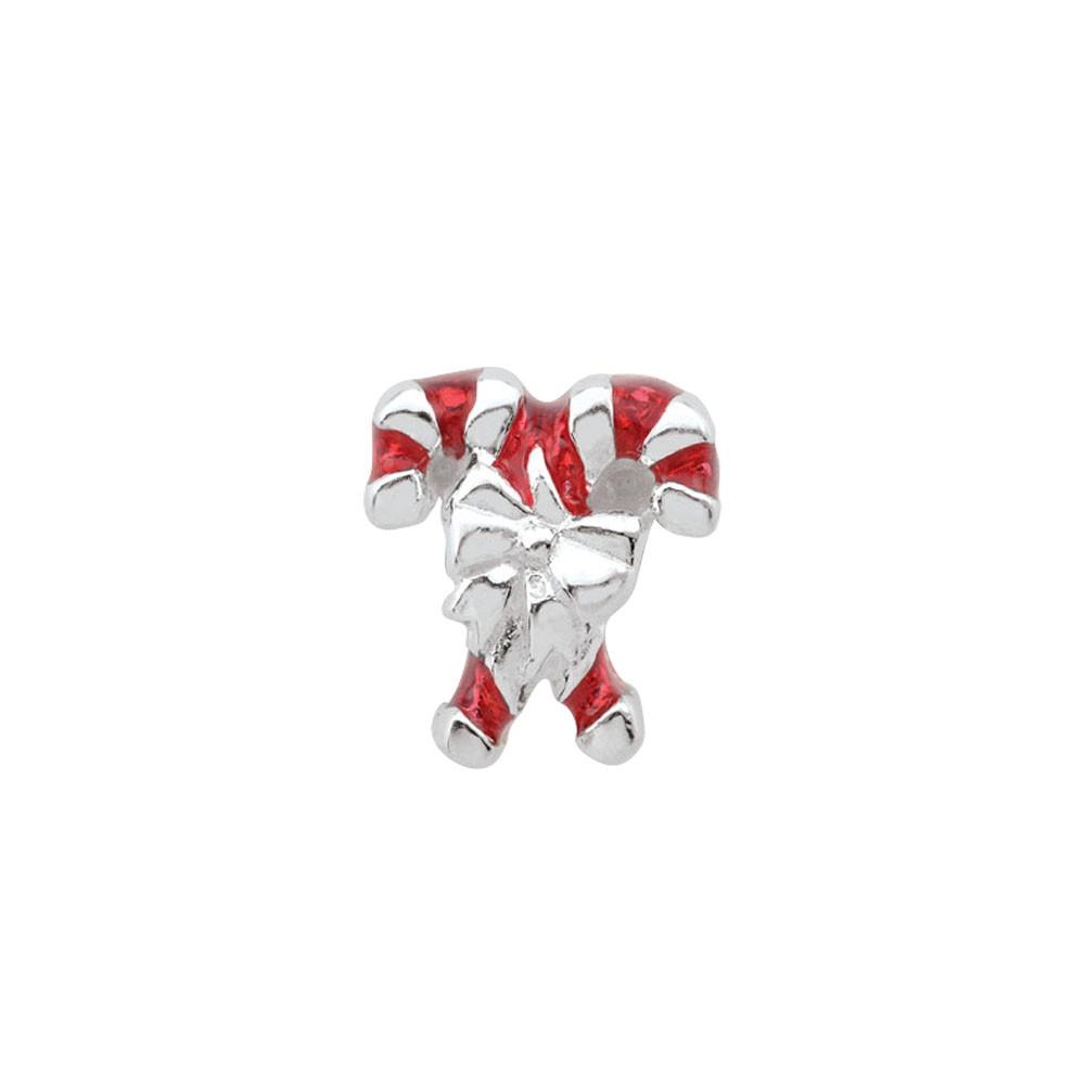 Candy Canes jewellery charm Sterling Silver Silver