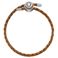 Tan Single Wrap Braided Leather