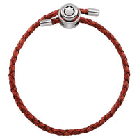 Red Single Wrap Braided Leather