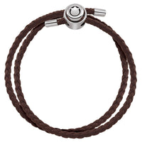 Brown Double Wrap Braided Leather