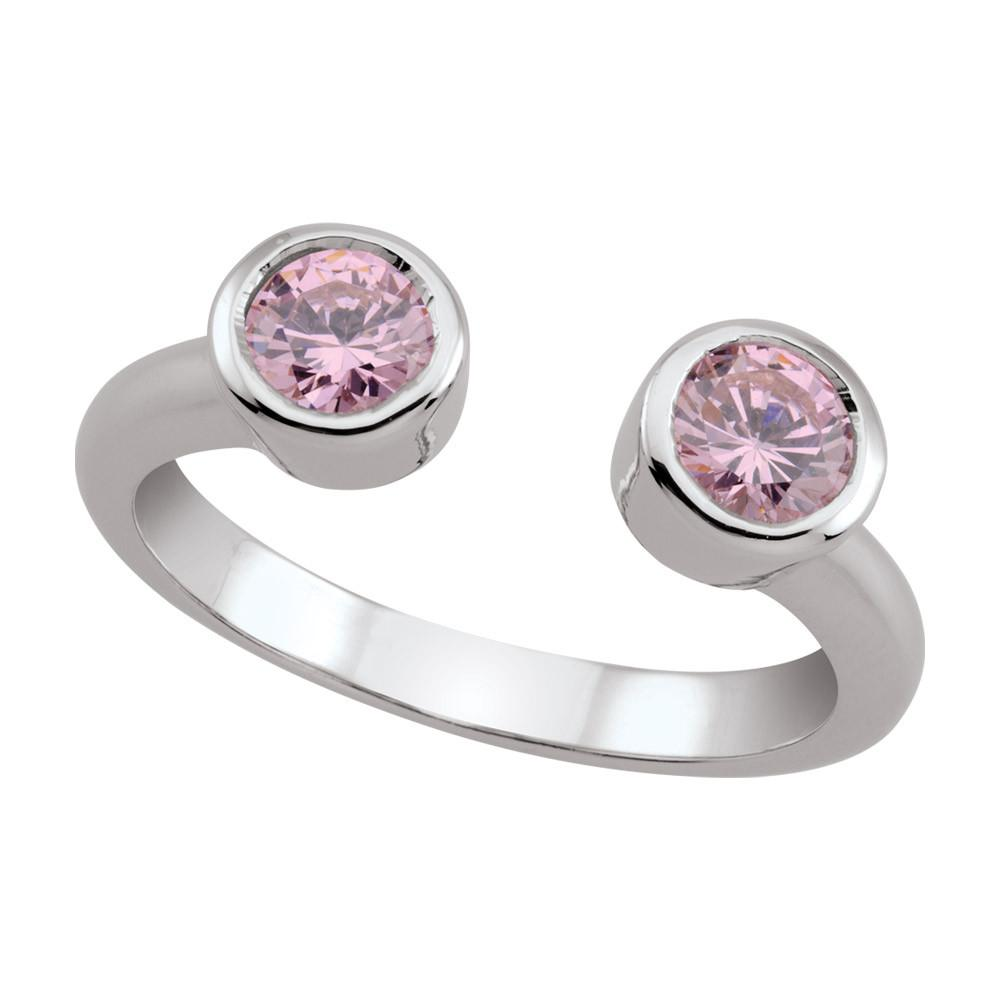 Open Bezel Ring in Blush