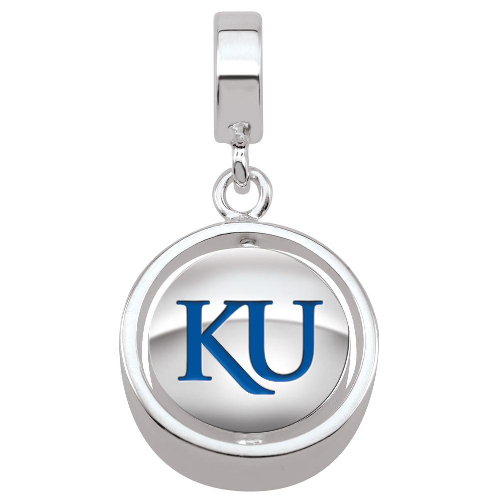 Kansas Jayhawks Campus Life Charms Sterling Silver Enamel Collegiate collection  University of Kansas