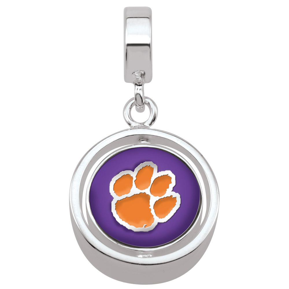 Clemson U Tigers Campus Life Charms Sterling Silver Enamel Collegiate collection  Clemson University