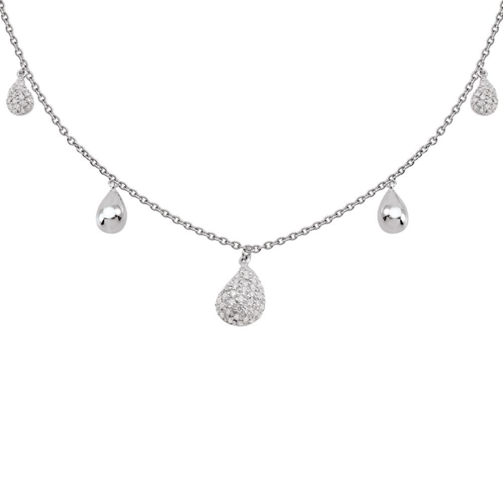 Droplette Necklace  Persona style-Necklaces finish-Sterling Silver parentcolor-White