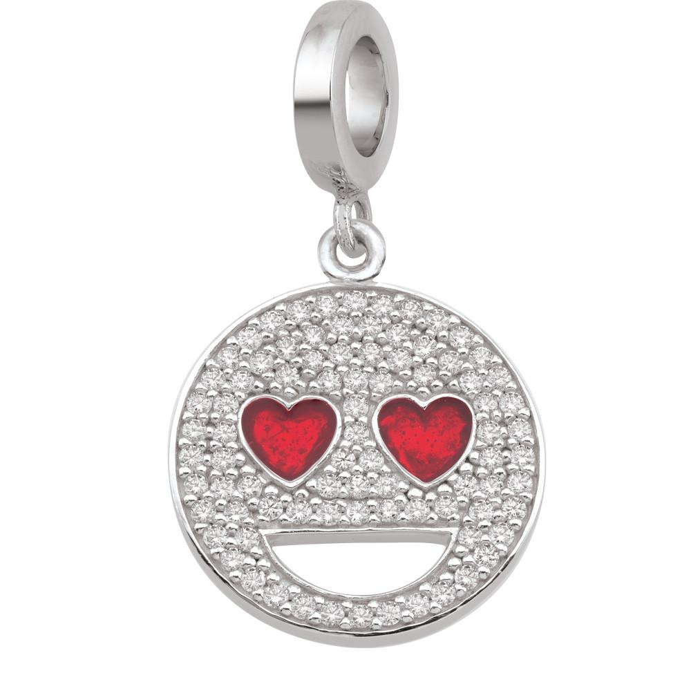 Heart Eyes emoji® Charm