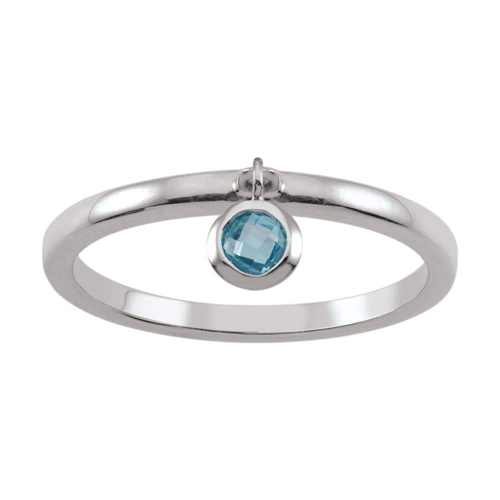 Dazzling Droplet Ring in Blue