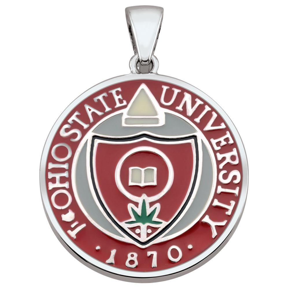 Ohio State U Pendant Campus Life style Necklaces Sterling Silver Enamel Collegiate collection  Ohio State University