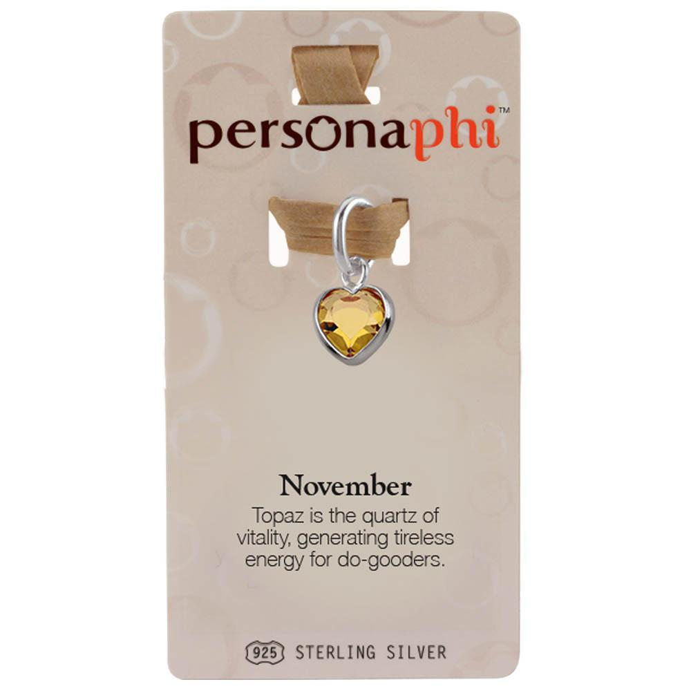 November Birthstone Amulet colour Yellow Persona jewellery
