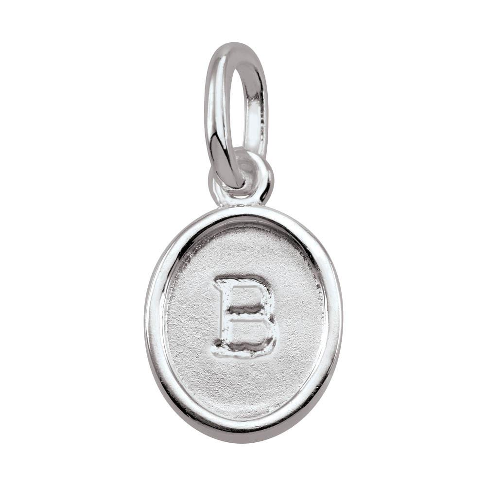 Letter B, Bold Persona jewellery  Amulets colour Silver