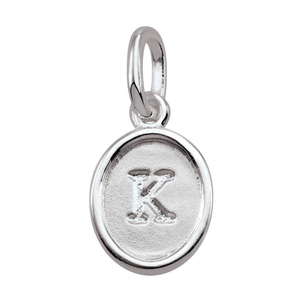 Letter K, Bold Persona jewelry  Amulets color Silver